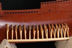 Section transversale de maquette de navires Image stock