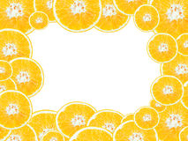Section transversale des oranges Image stock
