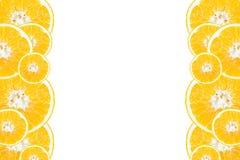 Section transversale des oranges Image libre de droits
