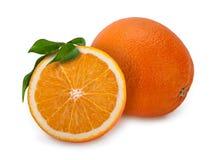 Section transversale orange Photo libre de droits