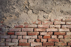 Section an very old brick wall Royalty Free Stock Photo
