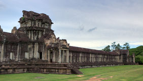 Section view of Angkor Wat in hdr Royalty Free Stock Photos