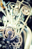 Section view of a motorcycle engine Stock Image