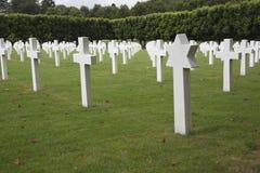 A section of war graves, Meuse-Argonne American Cemetery Stock Photos