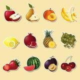 Sectiona плодоовощей и ягод: яблоко, груша, банан Стоковое Изображение RF