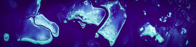Free Sectional High Resolution Satellite Image Of Great Barrier Reef, Australia, Aerial View, From Above Stock Photography - 155238022