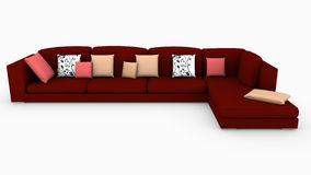 Sectional Red Sofa Stock Image