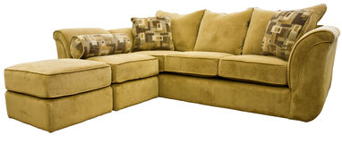 Sectional Sofa Group with Ottoman Royalty Free Stock Photos