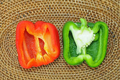 Sectional View Of Capsicums Stock Photos