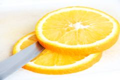 Sectioned orange Stock Images