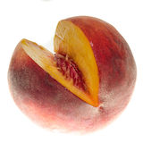 Sectioned peach Royalty Free Stock Photo