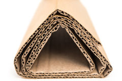 Sections of corrugated cardboard Stock Image