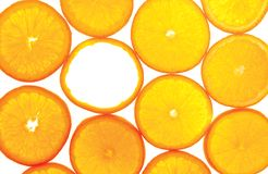 Sections of orange with one empty Royalty Free Stock Image