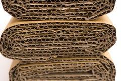 Sections transversales de carton ondulé Photographie stock libre de droits