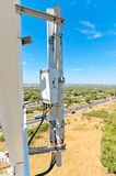 Sector antenna base station cellular communication. Against the blue sky Stock Photos