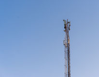Sector antenna mobile communications and antenna relay link. Sector antenna mobile communications and antenna relay link Royalty Free Stock Image