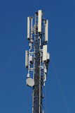 Sector antennas. Mobile communications and antenna relay link.  on white background Royalty Free Stock Photos