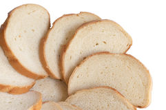 Sector from bread slices. On a white background Royalty Free Stock Images