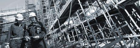Sector de la construcción y trabajadores Imagen de archivo