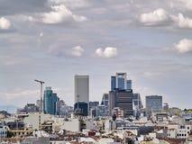 Sector financiero en Madrid Foto de archivo libre de regalías