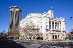 Sector Naval de Catalunya - κυβερνητικό κτήριο στη Βαρκελώνη, ασβέστιο Στοκ φωτογραφίες με δικαίωμα ελεύθερης χρήσης