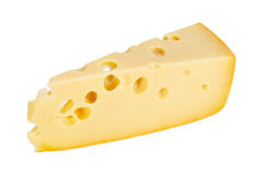 Sector part of yellow cheese Stock Photography