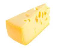 Sector part of yellow cheese Stock Images