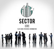 Sector Production Industrial Manufacturing Concept. Sector Production Industrial Manufacturing Information Stock Photo