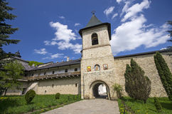 Secu monastery surrounding walls Stock Images