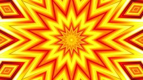 secuencia de colocación 4K de pulsación amarillo-roja de la estrella libre illustration