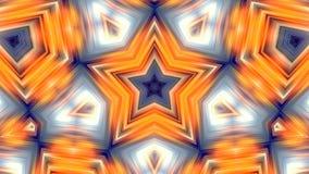 Secuencia de colocación de pulsación de la estrella Fondo abstracto de los gráficos del movimiento stock de ilustración