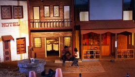 Secuencia de la acción en ciudad de la película de Ramoji Fotografía de archivo libre de regalías