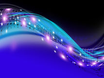 Secuencia de la música Imagen de archivo libre de regalías