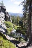 Secuencia de la montaña, parque nacional de Lassen Fotografía de archivo libre de regalías