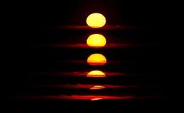 Secuencia de la puesta del sol Foto de archivo libre de regalías