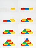 Secuencia de los bloques huecos Imagen de archivo