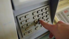 Secuencia de marca en un panel de la seguridad Foto de archivo libre de regalías
