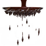 Secuencia del chocolate caliente fotografía de archivo