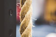 Secuencia del cordón del vínculo de la cuerda Fotografía de archivo