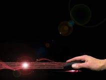 Secuencia del ratón y del Internet Foto de archivo libre de regalías