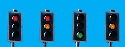Secuencia del semáforo Fotografía de archivo libre de regalías