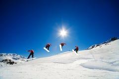 Secuencia del Snowboard Foto de archivo
