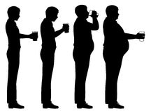 Secuencia del vientre de cerveza Imagenes de archivo