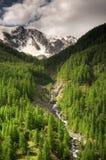 Secuencia en las altas montañas Foto de archivo libre de regalías