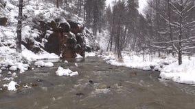 Secuencia fluído en invierno almacen de metraje de vídeo