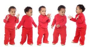 Secuencia fotográfica de un bebé fotografía de archivo libre de regalías
