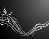 Secuencia negra de la música Imagen de archivo libre de regalías