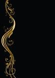 Secuencia ornamental en negro Imágenes de archivo libres de regalías