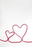Secuencia roja del corazón Fotografía de archivo