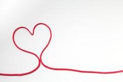 Secuencia roja del corazón Imágenes de archivo libres de regalías